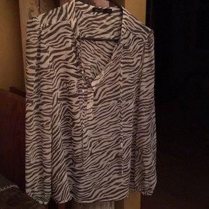 Seven7 sheer blouse